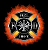 picture of maltese-cross  - Fire Department or Firefighter - JPG