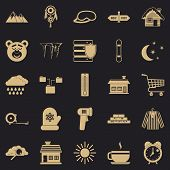 Winter Mood Icons Set. Simple Set Of 25 Winter Mood Vector Icons For Web For Any Design poster