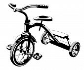 picture of tricycle  - This is a vector graphic of a child - JPG