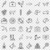 Vet Icons Set. Outline Style Of 36 Vet Vector Icons For Web For Any Design poster