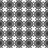 Black And White Geometric Seamless Pattern. Hand Drawn Watercolor Ornament. Awesome Repeating Design poster