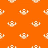 Best Quality Camp Pattern Vector Orange For Any Web Design Best poster