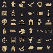 Childcare Icons Set. Simple Style Of 36 Childcare Vector Icons For Web For Any Design poster