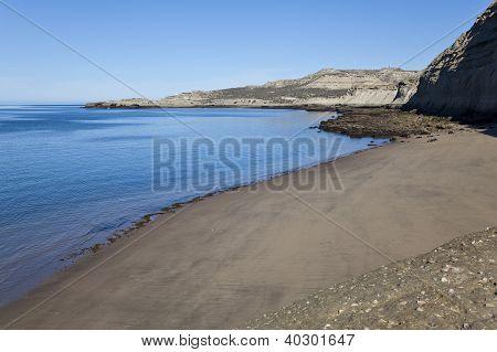 Wild Beach At Peninsula Valdes
