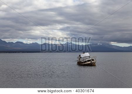 Ship Run Aground At Fagnano Lake