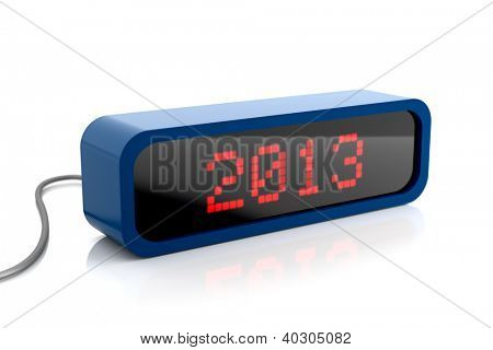 Led display print new year 2013