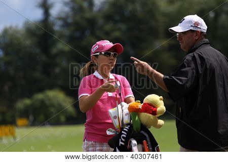Ami Yang  (KOR) at Evian Masters golf cup 2011