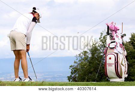 Momoko Ueda (JPN) at Evian Masters golf cup 2011