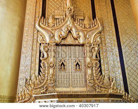 Beautiful Throne Of King Bayinnaung In Kambawzathardi Golden Palace