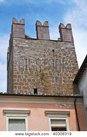 Fortified walls. Calcata. Lazio. Italy.