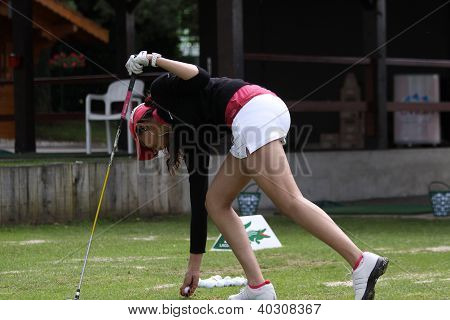 Sharmila Nicollett  (IND) at The Evian Masters golf tournament 2011