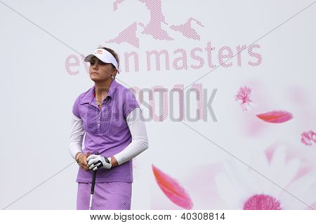 Alexis Thompson (EUA) no torneio de golfe The Evian Masters 2011