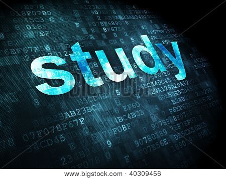 Education concept: study on digital background