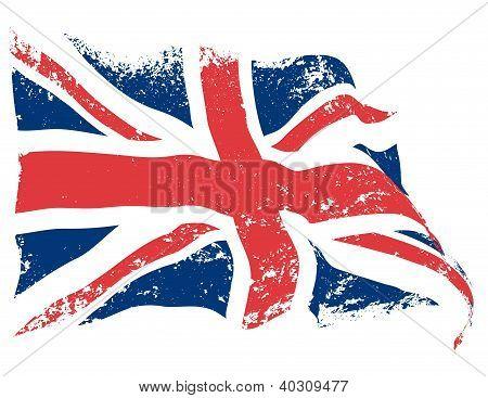 British flag grunge
