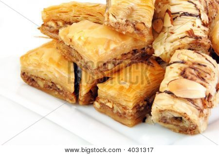 Baklava On White