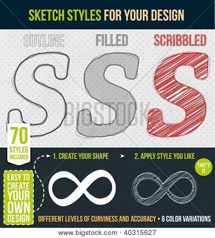 Set of sketch styles for your design