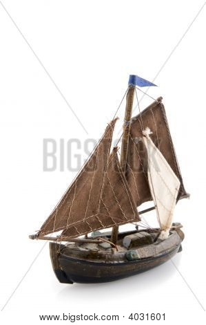 Old Dutch Wooden Sailboat
