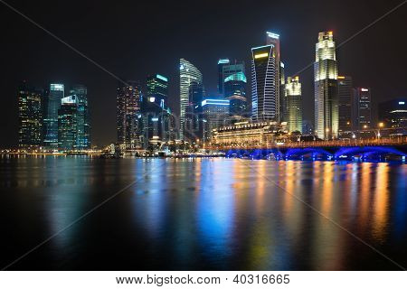 Night Illuminated Skyline