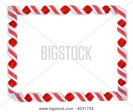 Christmas Border Candy Frame Isolated