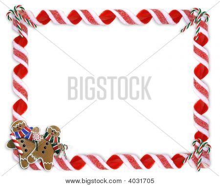 Christmas Frame Candy Cane Border