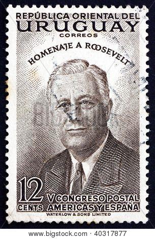 Postage stamp Uruguay 1953 Franklin Delano Roosevelt