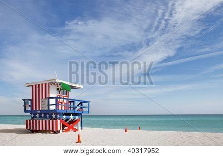 Miami Beach Florida, casa de salvavidas