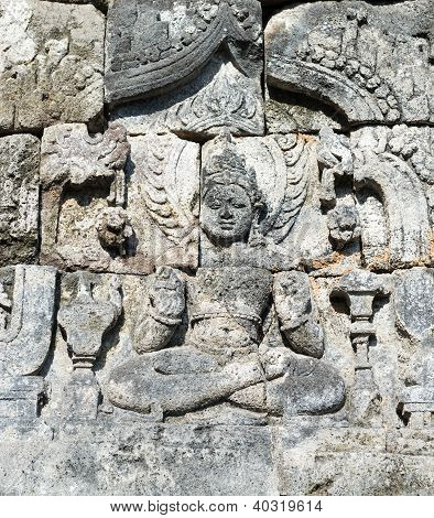Buddha Image In Candi Sewu Buddhist Complex, Java, Indonesia