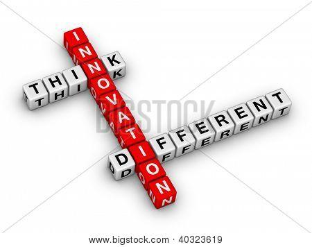 Innovation - Think verschiedene Kreuzworträtsel