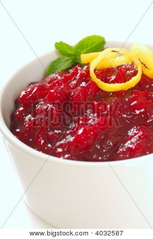 Cranberry Sauce With Lemon Zest