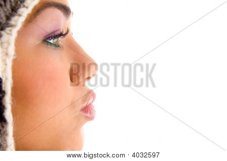 Woman In Kissing Pose