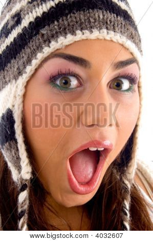 Surprised Face Of Young Girl