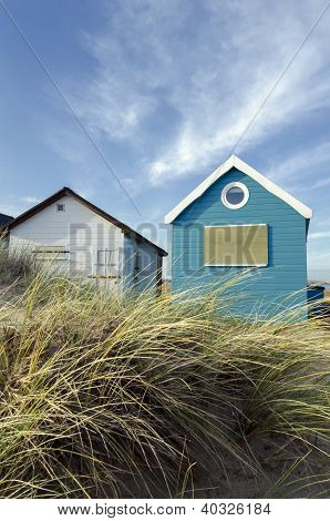 Blue & White Beach Huts