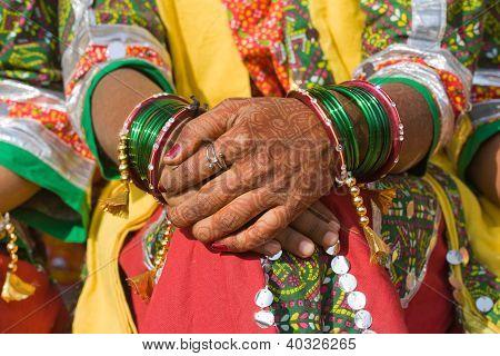 Henna auf Hände
