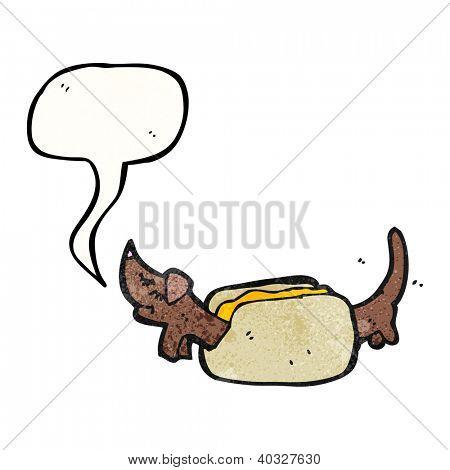 cartoon hot dog