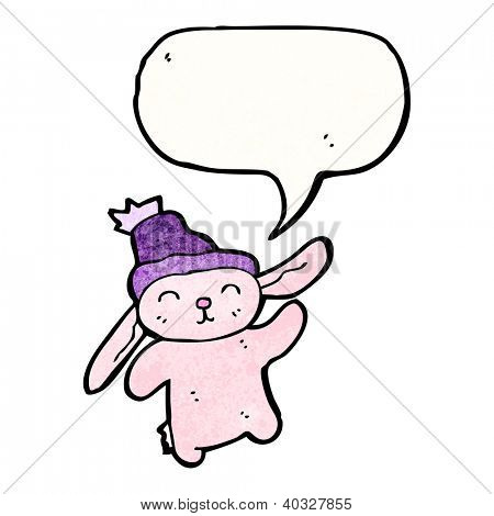 cartoon cute pink rabbit