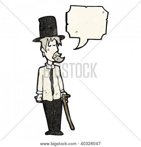 cartoon hobo in top hat