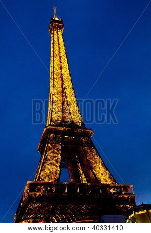 eiffel tower at night , France