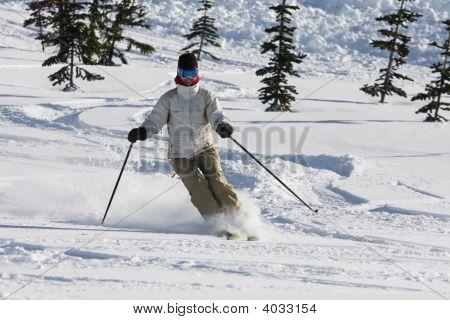 Alpine Smiling Skier