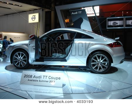 Coupe Car At Auto Show
