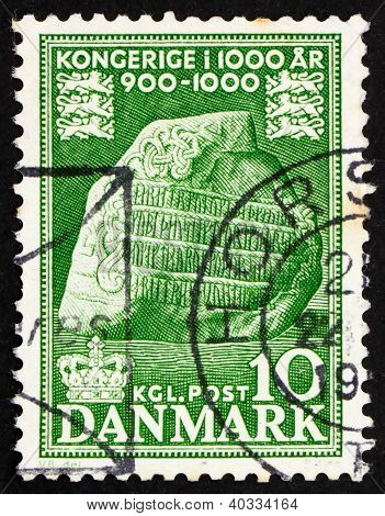 Postage stamp Denmark 1953 Jelling Runic Stone