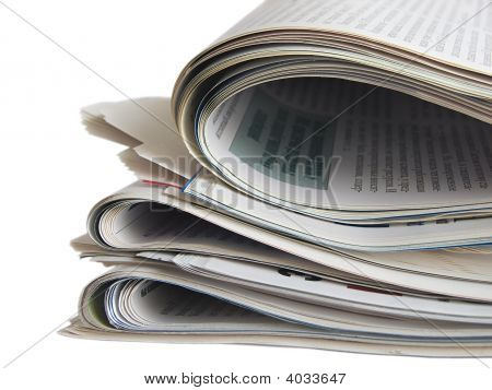 Close Up Colored Newspapers