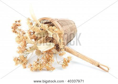 Tea Strainer With Dried Linden Flowers