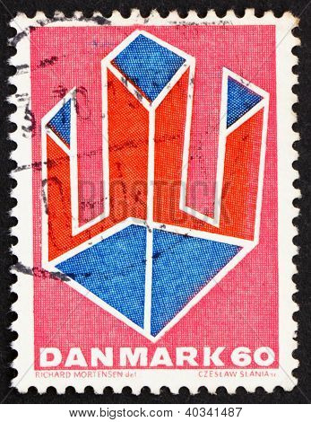 Postage stamp Denmark 1969 Abstract Design