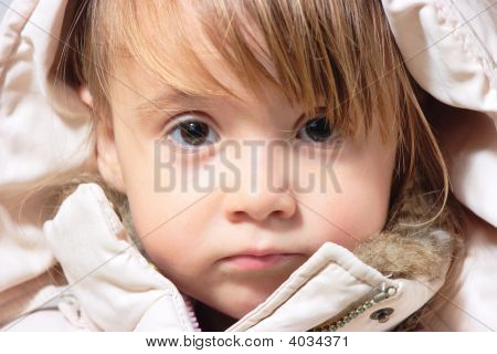 Winter-Dressed Baby Girl Portrait
