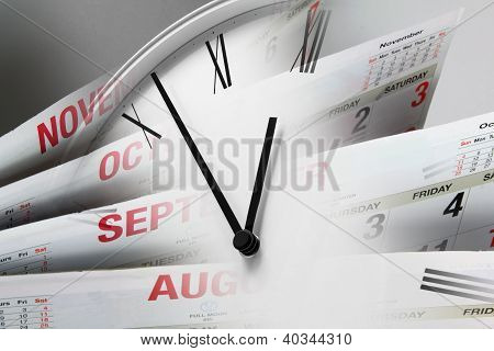 Clock Face and Calendar