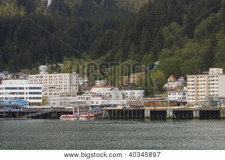 Buildings In Juneau Alaska From Sea