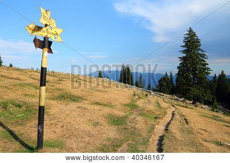 Hiking Trail In Romania