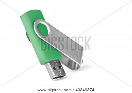 Green Usb Memory Stick