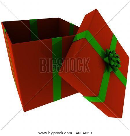 Prestados actualmente abierto rojo con lazo verde