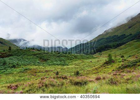 Clouded Glenfinnan Scenery